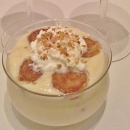 Vanillecreme mit Zimt-Banane und Krokant