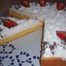 Biskuit mit Sahne- Erdbeerjoghurt