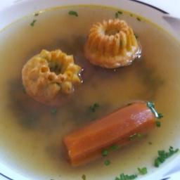 Schinken-Erbsen-Schöberl für Suppe